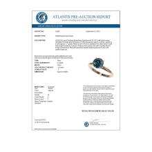 Lot 6393: 2 ctw Intense Blue Diamond Ring 10K Rose Gold - REF-344X5R - SKU:32939