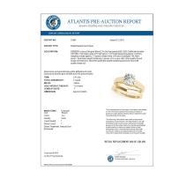 Lot 6402: 1 ctw VS/SI Diamond Solitaire 2pc Wedding Set 14K Yellow Gold - REF-297V3Y - SKU:31861