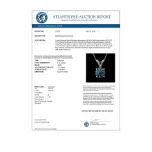 Lot 6410: 0.75 ctw Intense Blue Diamond Necklace 10K White Gold - REF-82Y5X - SKU:33178