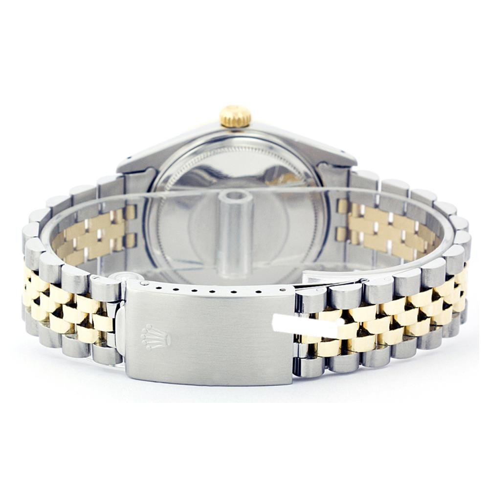 Lot 6854: Rolex Men's Two Tone 14K Gold/SS, QuickSet, Diam Dial & Diam/Ruby Bezel - REF-557X6Y