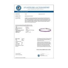 Lot 6475: 10.10 ctw Amethyst Bracelet 14K White Gold - REF-64W9H - SKU:13920
