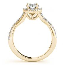 Lot 6905: 0.85 ctw VS/SI Diamond 2pc Wedding Set Halo 14K Yellow Gold - REF-67X6R - SKU:31057