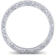 Lot 6925: 1 ctw VS/SI Diamond Art Deco Eternity Band 14K White Gold - REF-78V2Y - SKU:30270