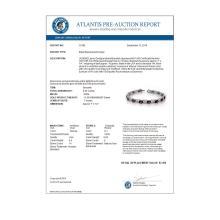 Lot 6492: 9.55 ctw Amethyst & Diamond Bracelet 14K White Gold - REF-96A9V - SKU:10195