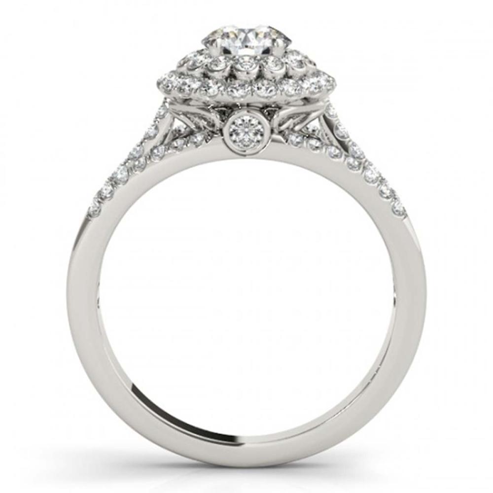 Lot 6948: 1.41 ctw VS/SI Diamond 2pc Wedding Set Halo 14K White Gold - REF-118N3A - SKU:30981
