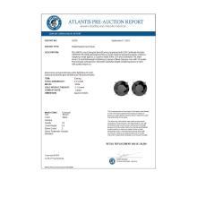 Lot 6534: 3.50 ctw Fancy Black Diamond Solitaire Stud Earrings 10K White Gold - REF-73A5V - SKU:36700