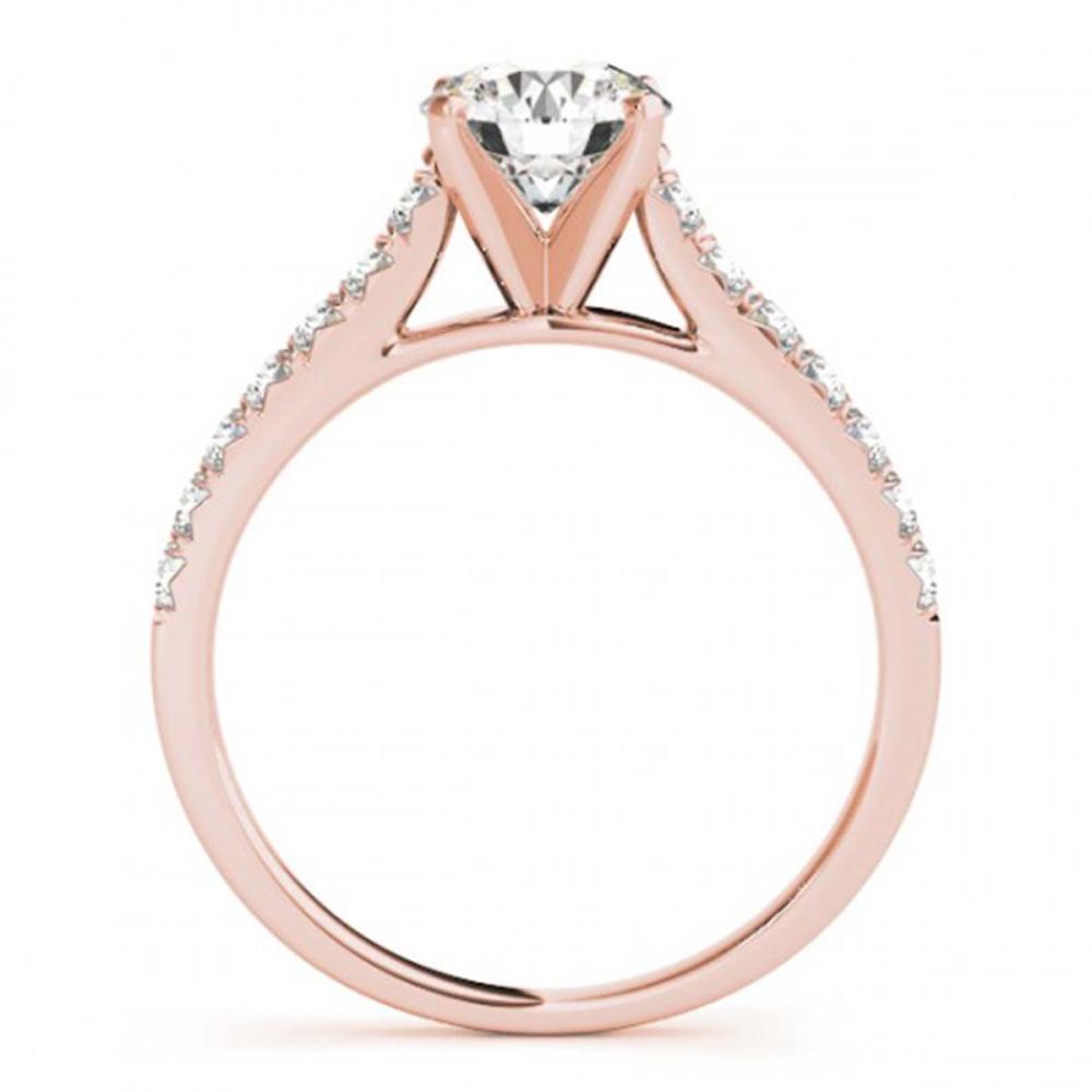 Lot 7070: 1.38 ctw VS/SI Diamond 2pc Wedding Set 14K Rose Gold - REF-114F7N - SKU:31698