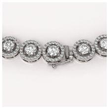 Lot 7067: 23.95 ctw Diamond Necklace 18K White Gold - REF-1813N5A - SKU:42992