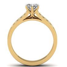 Lot 7079: 1.10 ctw VS/SI Diamond Solitaire Art Deco Ring 14K Yellow Gold - REF-188F2N - SKU:30347