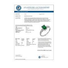 Lot 6612: 1.45 ctw Emerald & Diamond Ring 18K White Gold - REF-36N9A - SKU:11321