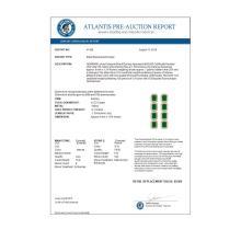 Lot 6625: 12.33 ctw Emerald & Diamond Halo Earrings 10K Yellow Gold - REF-178F2N - SKU:41428