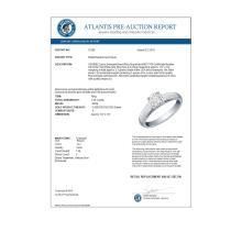 Lot 6730: 1.25 ctw VS/SI Diamond Solitaire Ring 18K White Gold - REF-593F7N - SKU:12182