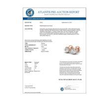 Lot 6830: 1.07 ctw VS/SI Diamond Solitaire Art Deco Stud Earrings 18K Rose Gold - REF-200N2A - SKU:36912