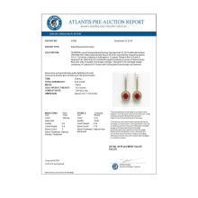 Lot 6853: 9.25 ctw Ruby & Diamond Earrings 14K Yellow Gold - REF-249N6A - SKU:43606