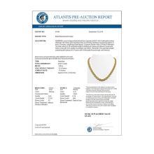 Lot 6911: 28.52 ctw Fancy Citrine & Diamond Halo Necklace 10K Yellow Gold - REF-498M9F - SKU:40444