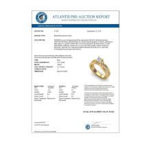 Lot 6985: 1.01 ctw VS/SI Cushion Cut Diamond Ring 18K Yellow Gold - REF-174X5R - SKU:37162
