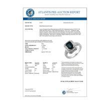 Lot 7016: 3.0 ctw Blue Sapphire & Diamond Ring 18K White Gold - REF-89H3M - SKU:10157