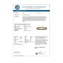 Lot 7015: 22.89 ctw Emerald & Diamond Halo Bracelet 10K Rose Gold - REF-291R5K - SKU:40602