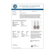 Lot 7046: 13.82 ctw Morganite & Diamond Earrings 14K White Gold - REF-579M8F - SKU:43787