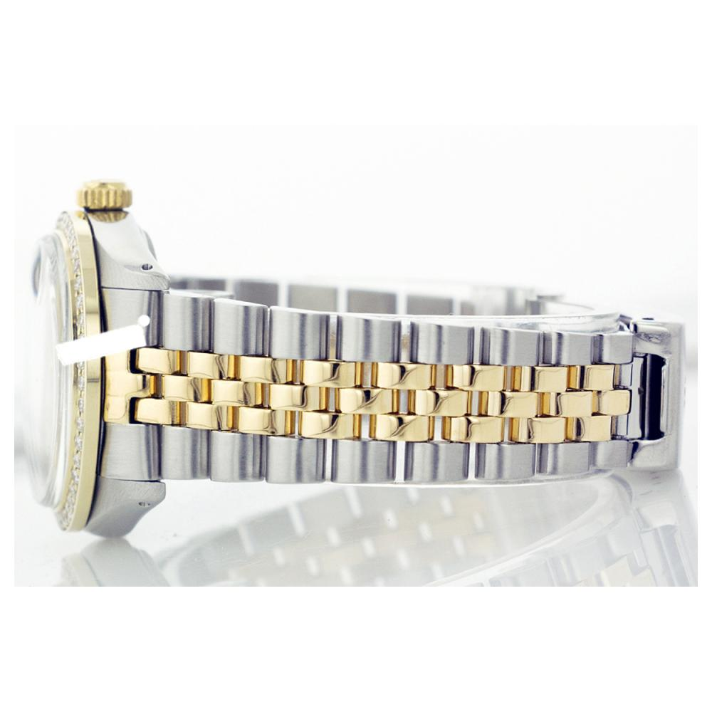 Lot 7052: Rolex Ladies Two Tone 14K Gold/ss, Diamond Dial & Diamond Bezel, Sapphire Crystal - REF-434M3F