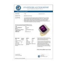 Lot 7035: 4.75 ctw Amethyst & Diamond Ring 14K Yellow Gold - REF-71R5K - SKU:11109