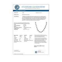 Lot 7071: 25.0 ctw Tanzanite & Diamond Necklace 10K White Gold - REF-250Y5X - SKU:10268