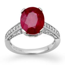 2.80 ctw Ruby & Diamond Ring 18K White Gold - REF#-82M9R-11870