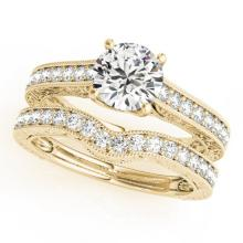 1.67 CTW Certified VS/SI Diamond Solitaire 2pc Wedding Set  14K Gold - REF#-388X2T-31672