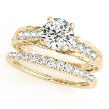 1.04 CTW Certified VS/SI Diamond Solitaire 2pc Wedding Set  14K Gold - REF#-200M4R-31648