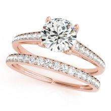 1.53 CTW Certified VS/SI Diamond Solitaire 2pc Wedding Set  14K Gold - REF#-230H2M-31599