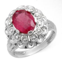 2.25 ctw Ruby Ring 10K White Gold - REF#-29G8N-10217