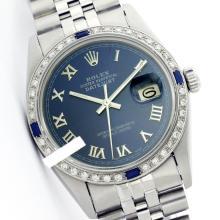 Rolex Ladies Stainless Steel, Roman Dial Diam/Sapphire Bezel, Saph Crystal - REF#316N4J