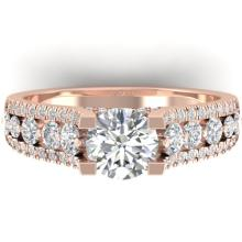 2.55 CTW CERTIFIED VS/SI DIAMOND ART DECO MICRO RING 14K  Gold - REF#-431F5V-30298