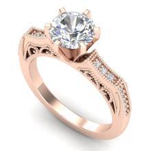 1.51 CTW VS/SI DIAMOND SOLITAIRE ART DECO RING 18K Gold - REF#-536H4M-37077
