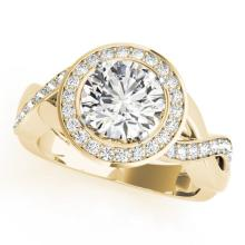 1.75 CTW Certified VS/SI Diamond Bridal Solitaire Halo Ring 18K Yellow Gold - REF#-415T6K-26175