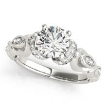 0.95 CTW Certified VS/SI Diamond Solitaire Bridal Ring 18K White Gold - REF#-200V5Y-27306