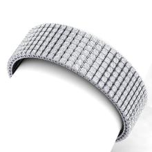 30 CTW Certified VS/SI Diamond Bracelet 18K White Gold - REF-1620H2A - 39959