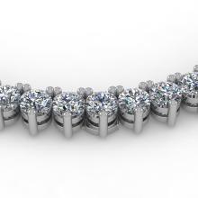 18 CTW Solitaire VS/SI Graduated Diamond Necklace 14K White Gold - REF-1186H4A - 40204