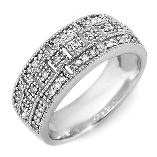 0.35 CTW Certified VS/SI Diamond Ring 10K White Gold - REF-40Y9K - 10207