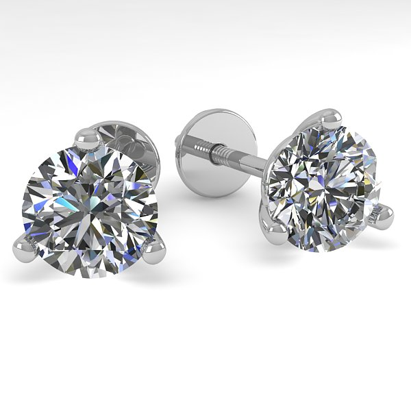 1.53 CTW Certified VS/SI Diamond Stud Earrings 18K White Gold - REF-303F8N - 32211