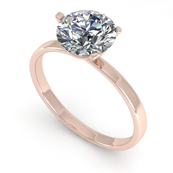 1.50 CTW Certified VS/SI Diamond Engagement Ring Martini 18K Rose Gold - REF-521M4H - 32234