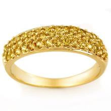 1.50 CTW Yellow Sapphire Ring 14K Yellow Gold - REF-36H9A - 11361