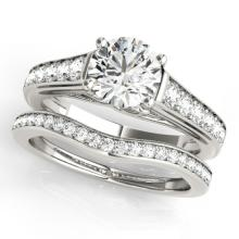 1.7 CTW Certified VS/SI Diamond Solitaire 2pc Wedding Set  14K Gold - REF#-407G3N