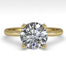 2.03 CTW Certified VS/SI Diamond Engagement Ring 14K Yellow Gold - REF-1012H5A - 30611