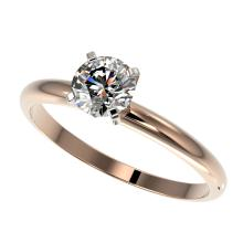 0.77 CTW Certified H-SI/I Quality Diamond Solitaire Engagement Ring 10K Rose Gold - REF-118M2H - 36386