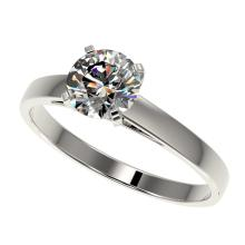 1.03 CTW Certified H-SI/I Quality Diamond Solitaire Engagement Ring 10K White Gold - REF-199T5M - 36504