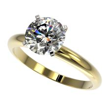 2 CTW Certified H-SI/I Quality Diamond Solitaire Engagement Ring 10K Yellow Gold - REF-615H2A - 32934