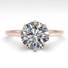 2 CTW VS/SI Diamond Solitaire Engagement Ring 14K Rose Gold - REF-923N4Y - 29609