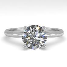 1.50 CTW VS/SI Diamond Engagement Designer Ring 18K White Gold - REF-577X5T - 32433