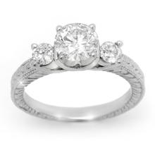 1.50 CTW Certified VS/SI Diamond Ring 14K White Gold - REF-393H9A - 13431
